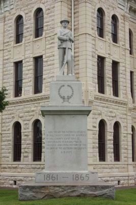 Hill County Confederate Memorial Marker ; Figure and base: Georgia granite image. Click for full size.