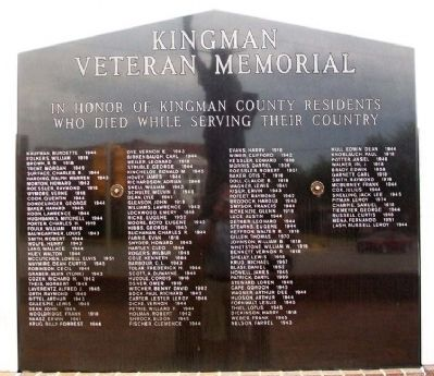 Kingman Veteran Memorial image. Click for full size.