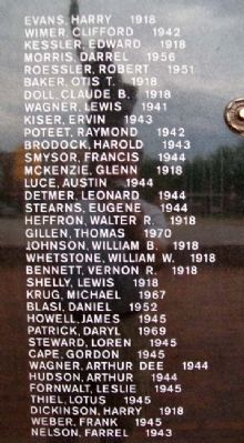 Kingman Veteran Memorial Honor Roll image. Click for full size.