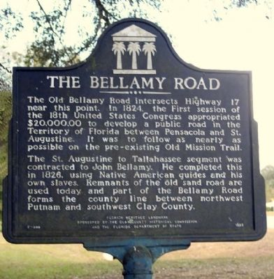 The Bellamy Road Marker image. Click for full size.