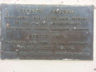 Drostdy Gateway Marker image. Click for full size.