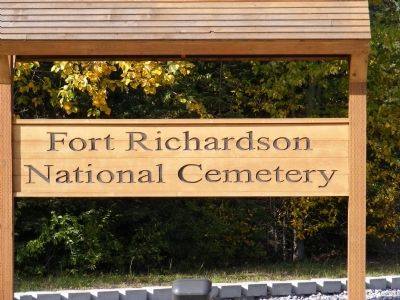 Fort Richardson National Cemetery-Gate Marker image. Click for full size.
