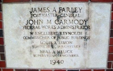 United States Post Office Cornerstone image. Click for full size.