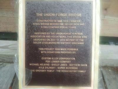 Union Forge Heritage Association Bridge image. Click for full size.