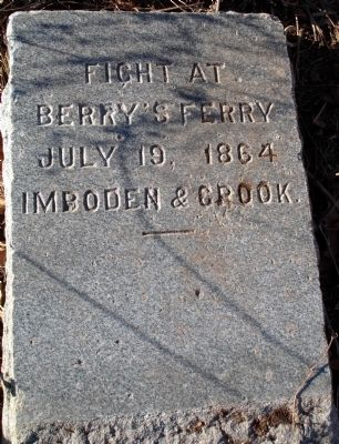 Fight at Berry's Ferry Marker image. Click for full size.
