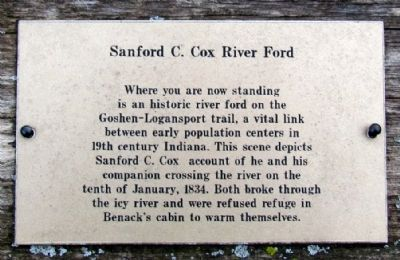 Sanford C. Cox River Ford Marker (Close-Up) image. Click for full size.