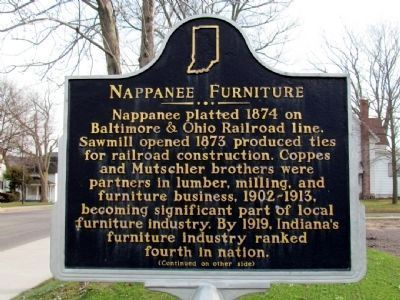 Nappanee Furniture Marker (Front) image. Click for full size.