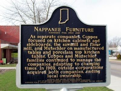 Nappanee Furniture Marker (Back) image. Click for full size.