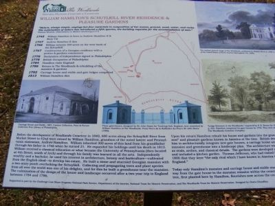 The Woodlands-Historic Mansion, Cemetery and Landscape Marker image. Click for full size.