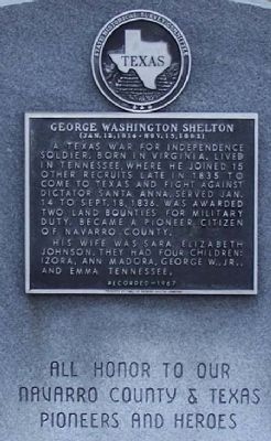 George Washington Shelton Marker image. Click for full size.