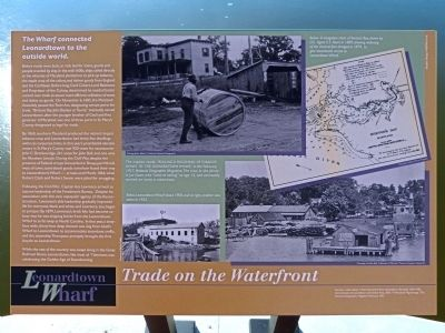 Trade on the Waterfront Marker image. Click for full size.
