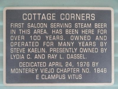 A duplicate Cottage Corners marker placed on The Cottage building image. Click for full size.