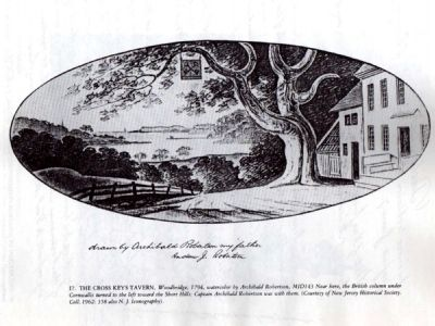 1794 Image of Woodbridge's Cross Keys Tavern image. Click for full size.