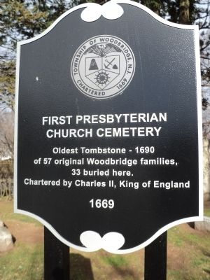 First Presbyterian Church Cemetery Marker image. Click for full size.