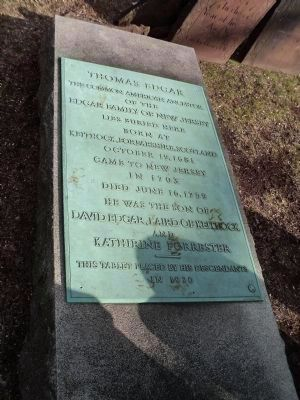 Grave of Thomas Edgar image. Click for full size.