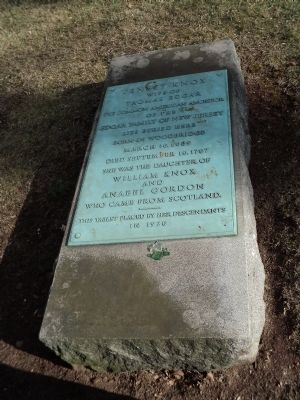 Grave of Jenett Knox image. Click for full size.