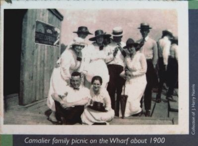 Camalier Family picnic on the Wharf about 1900 image. Click for full size.