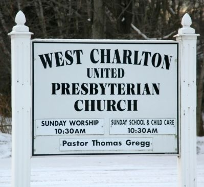 The West Charlton United Presbyterian Church Sign image. Click for full size.