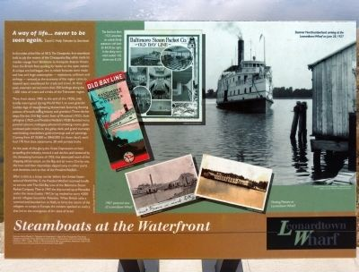 Steamboats at the Waterfront Marker image. Click for full size.