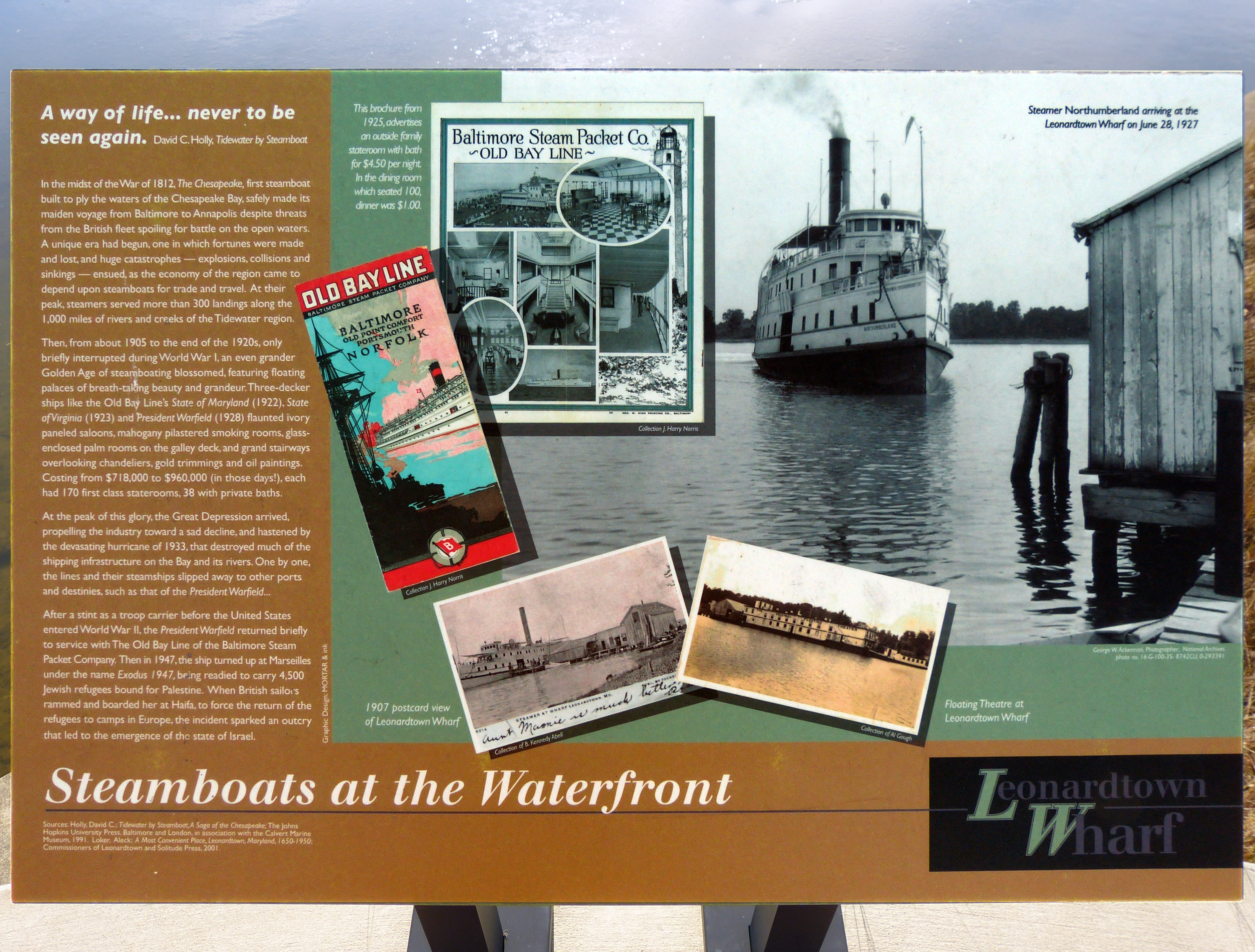 Steamboats at the Waterfront Marker