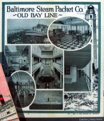 Old Bay Line Brochure image. Click for full size.