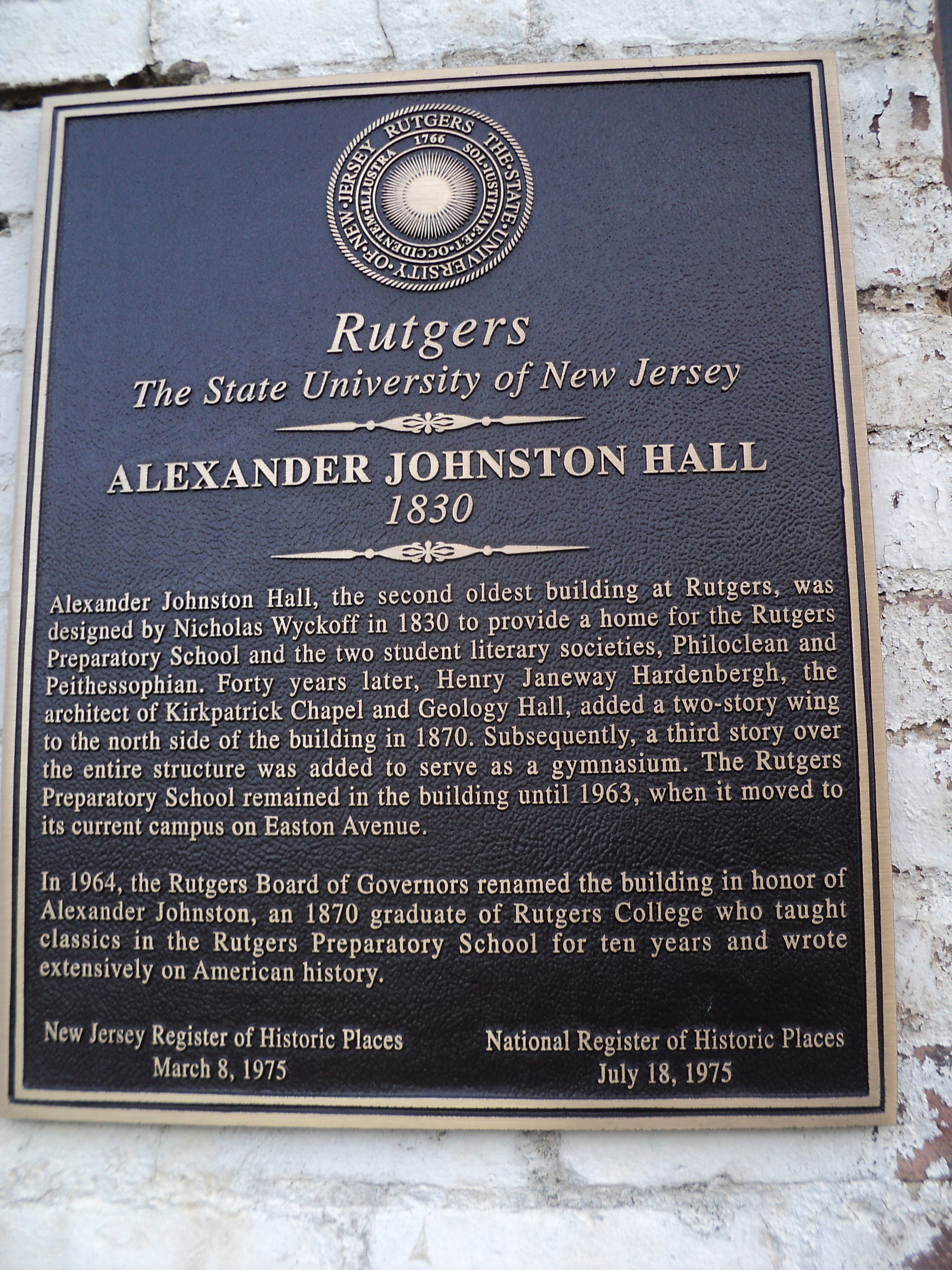 Alexander Johnston Hall Marker