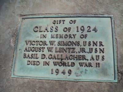 Class of 1924 Memorial Marker image. Click for full size.