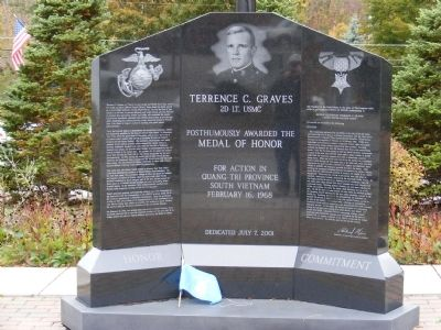 Terrence C. Graves Monument Marker image. Click for full size.