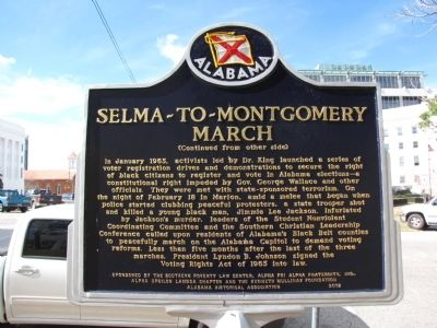 Selma-to-Montgomery March Marker image. Click for full size.