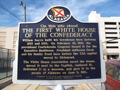 The First White House of the Confederacy Marker image. Click for full size.