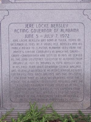 Jere Locke Beasely Marker image. Click for full size.