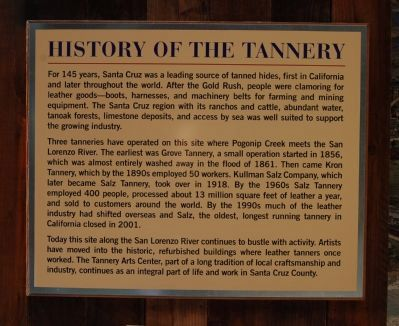 Salz Tannery Marker image. Click for full size.