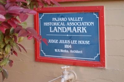 Judge Julius Lee House Landmark Marker image. Click for full size.