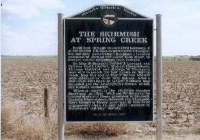 The Skirmish at Spring Creek Marker image. Click for full size.