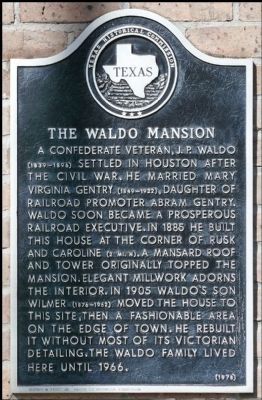 The Waldo Mansion Marker image. Click for full size.