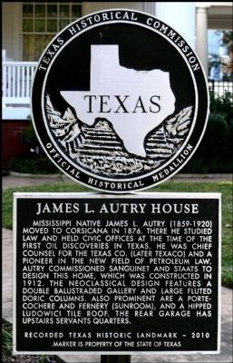 James L. Autry House Marker image. Click for full size.