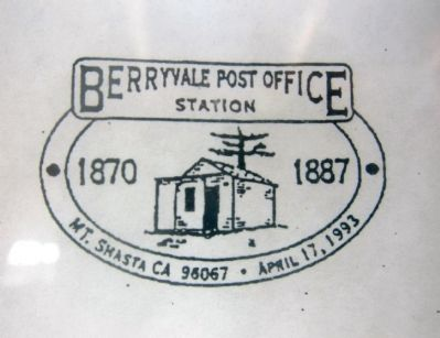 Berryvale Post Office - Commemorative Cancellation (visible in front window) image. Click for full size.