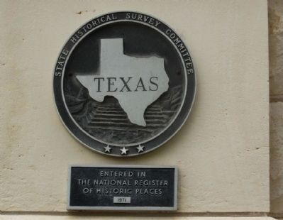Official Texas State Historical Survey Commission Plate image. Click for full size.