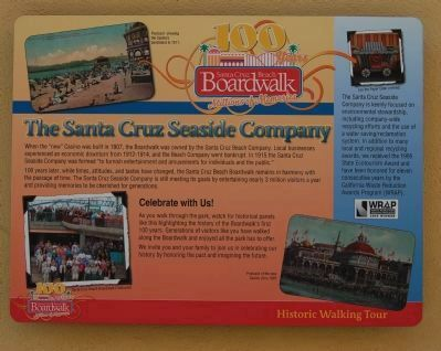 The Santa Cruz Seaside Company Marker image. Click for full size.