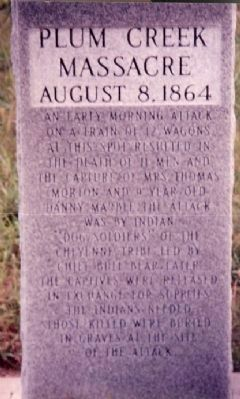 Plum Creek Massacre Site Marker image. Click for full size.