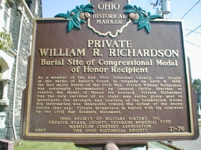 Private William R. Richardson Marker image. Click for full size.