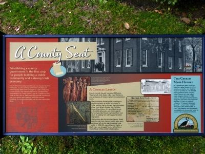 A County Seat Marker image. Click for full size.