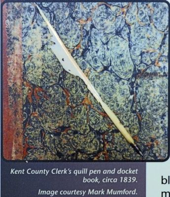 Quill Pen and Docket Book image. Click for full size.