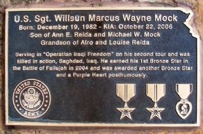 Sgt. Will Mock Marker image. Click for full size.
