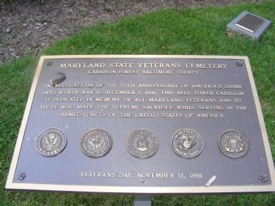 Maryland State Veterans Cemetery Marker image. Click for full size.