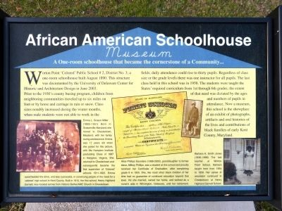 African American Schoolhouse Marker image. Click for full size.