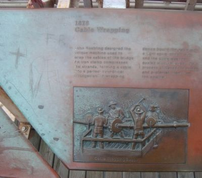 How the Bridge was Built Marker image. Click for full size.