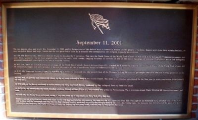 September 11, 2001 Marker image. Click for full size.