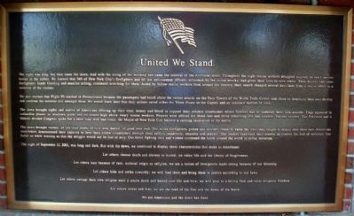 "9-11 ""United We Stand"" Marker image. Click for full size."