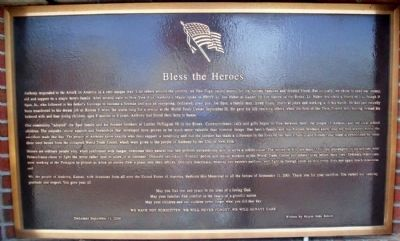 "9-11 ""Bless the Heroes"" Marker image. Click for full size."